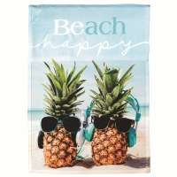 "18"" x 13"" Mini Beach Happy Pineapple Garden Flag"