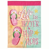 "18"" x 13"" Mini Better In Flip Flops Garden Flag"