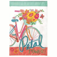 "18"" x 13"" Mini Petal Power Bike Garden Flag"