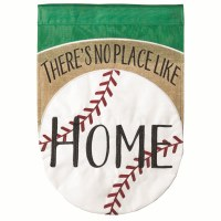 "18"" x 13"" Mini No Place Like Home Baseball Garden Flag"
