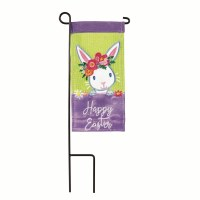 "4"" x 8"" Easter Garden Flag With Pole"