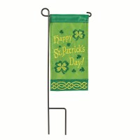 "4"" x 8"" St. Patrick's Day Garden Flag With Pole"