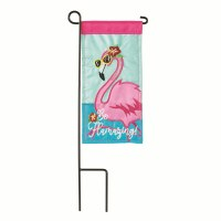 "4"" x 8"" Be Flamazing Garden Flag With Pole"