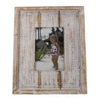 "4"" x 6"" White Washed Picture Frame"