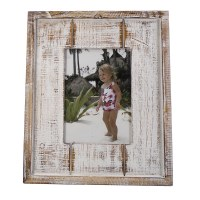 "5"" x 7"" White Washed Picture Frame"