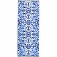 1.9' x 4.6' Shibori Blue Rug