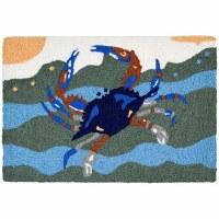 "20"" x 30"" Blue Crab Surf Rug"