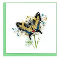 "6"" x 6"" Quilling Swallowtail Butterfly Card"