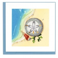 "6"" x 6"" Quilling Sand Dollar Card"
