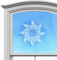 "5"" Circle Sun White Window Cling"