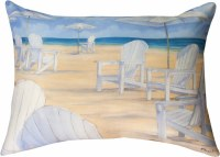 "13"" x 18"" White Chairs On Beach Pillow"