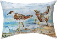 "13"" x 18"" 3 Shorebirds Pillow"