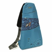 """16"""" Chala Turquoise Turtle Sling Back Pack"""