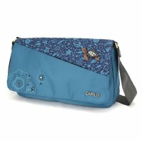 "12"" Chala Turquoise Turtle Messenger Bag"