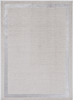 3.3' x 4.11' Ivory and Silver Border Luna Rug