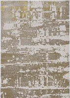 3.3' x 4.11' Ivory and Gold Escape Luna Rug