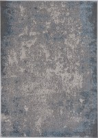 3.3' x 4.11' Silver and Blue Natura Luna Rug