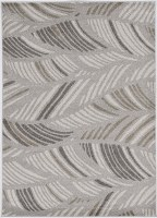 "1' 11"" x 3' 9"" Gray Folia Lucia Outdoor Rug"