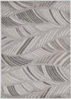 1.11' x 3.9' Gray Folia Lucia Outdoor Rug