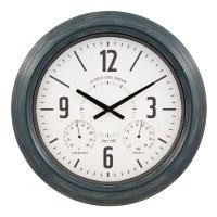 """18"""" Round Metal Indoor/Outdoor Wall Clock"""