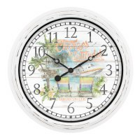 """16"""" Round Margaritaville Indoor/Outdoor Wall Clock"""