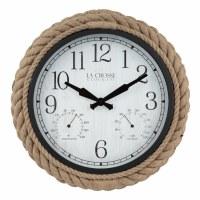 """14"""" Round Rope Indoor/Outdoor Clock"""