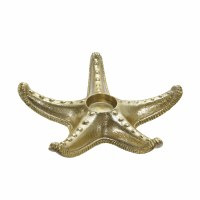 "9"" Gold Starfish Tea Light Metal Holder"