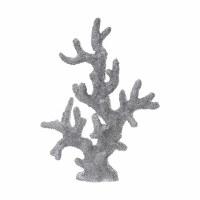 "17"" Silver Faux Coral"