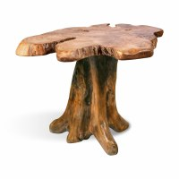 "19"" Teak Trunk Table"