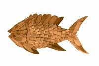 "35"" Natural Driftwood Fish Plaque"