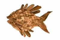 "48"" Natural Driftwood Fish Plaque"