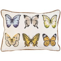 "13"" x 18"" Multicolored Butterfly Pillow"