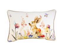 "12"" x 18"" Pillow On Brown Bunny"