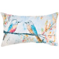 "9"" x 18"" 2 Blue Birds Pillow"
