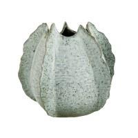 """10"""" Light Blue Ceramic Flange Vase"""