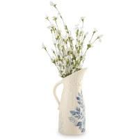 48 Oz Blue Floral Pitcher