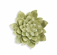 """22"""" Round Green Succulent Metal Wall Plaque"""