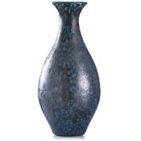 "18"" Dark Blue Spotted Glass Vase"