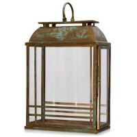 "24"" Verdegris and Copper Rectangle Lantern"