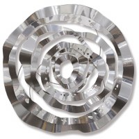 """26"""" Round Silver Spiral Metal Wall Plaque"""