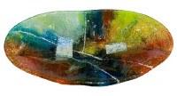 "21"" Oval Multicolored Glass Bowl"