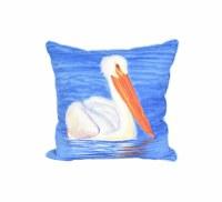 "18"" White Pelican Pillow"