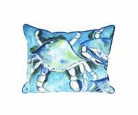 """16"""" x 20"""" White Crabs Pillow"""