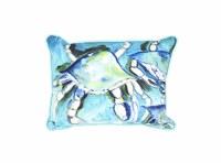 """11"""" x 14"""" White Crabs Pillow"""