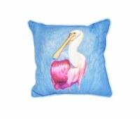"12"" Square Spoonbill Pillow"