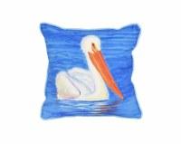 """12"""" Square White Pelican Pillow"""