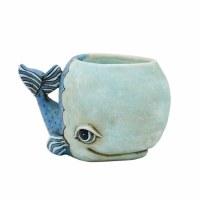 """8.5"""" Blue Whale Planter"""