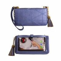 "5"" x 8"" Save The Girls Heavenly Blue Allure Touch Screen Purse"