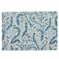 """13"""" x 19"""" Blue and White Ashley Placemat"""