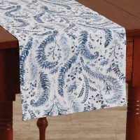 "13 x 36"" Blue and White Ashley Runner"
